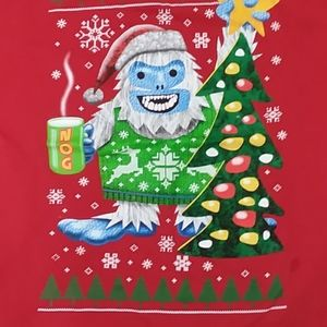 Men's XL Abominable Snowman Ugly Christmas T-Shirt